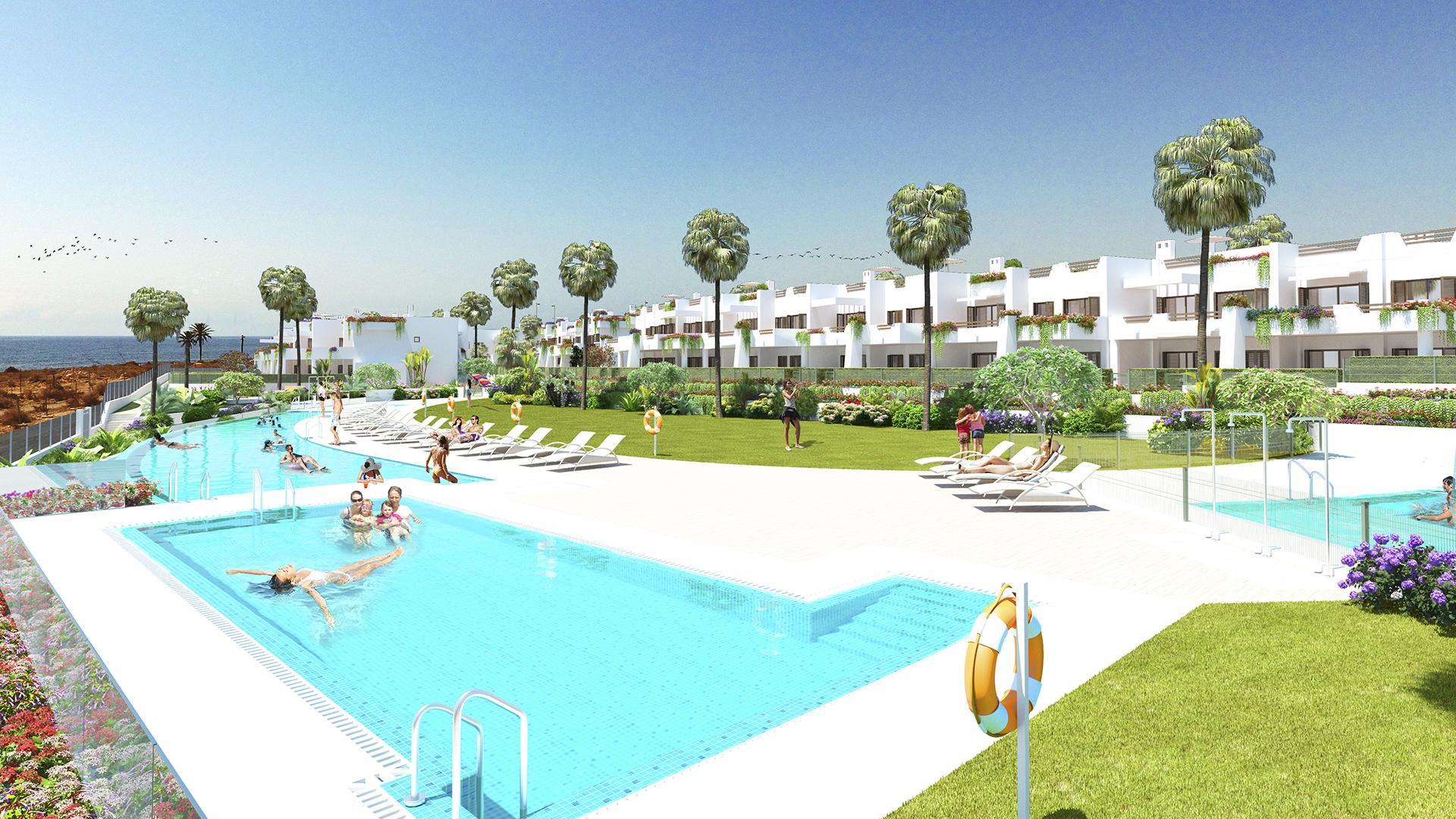 Penthouse 1ste lijn aan zee Mar de Pulpi - fase 6 in Medvilla Spanje