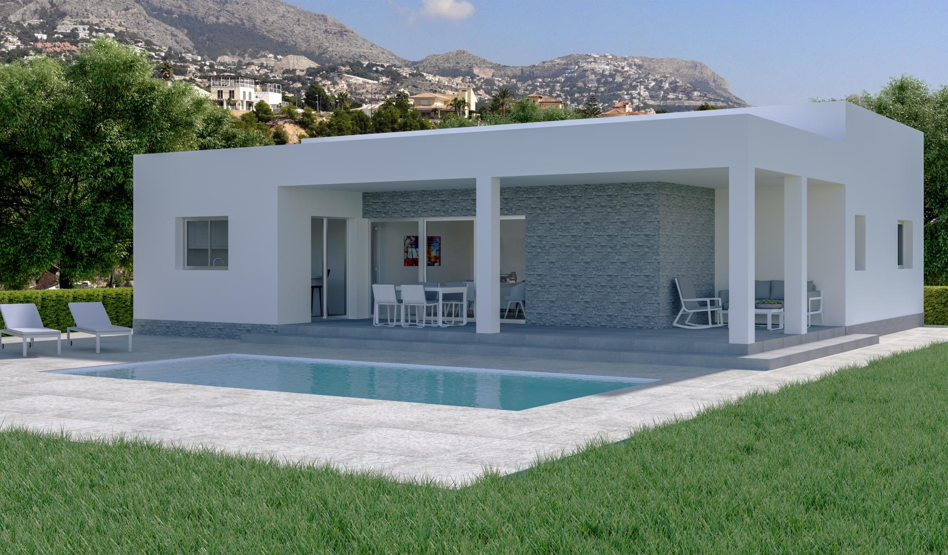 Off-plan villa in Hondon vallei in Medvilla Spanje