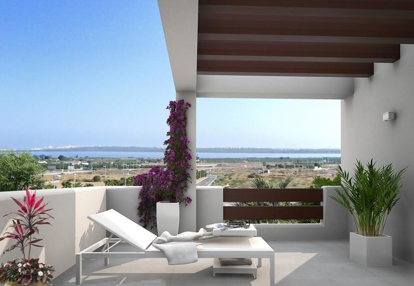 Moderne villa's met zicht op Mar Menor nabij La Manga in Medvilla Spanje