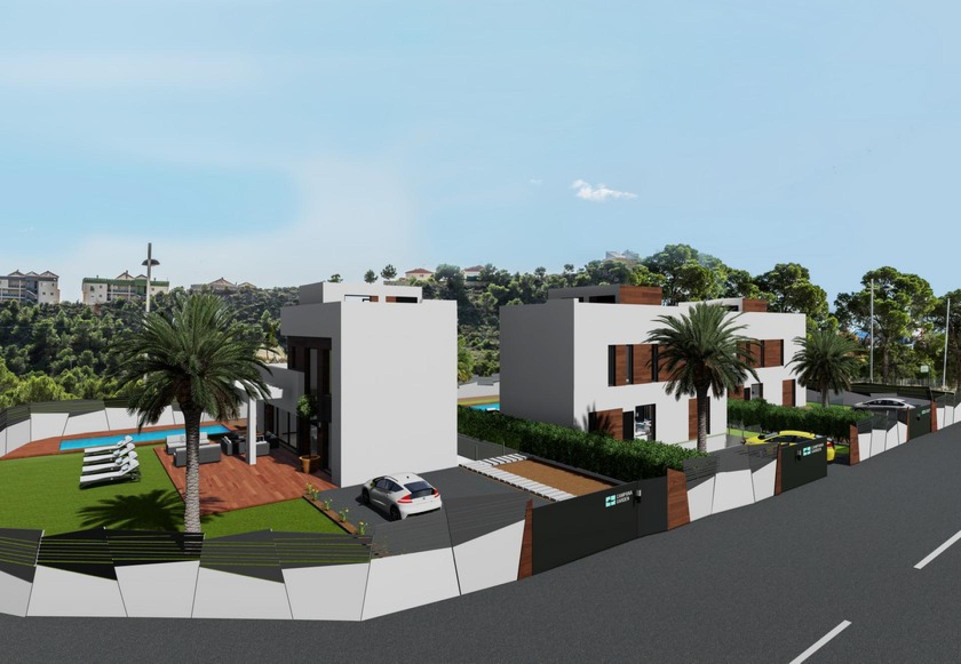 Alicante, Nieuwbouw villa's in Finestrat, Costa Blanca Noord in Medvilla Spanje