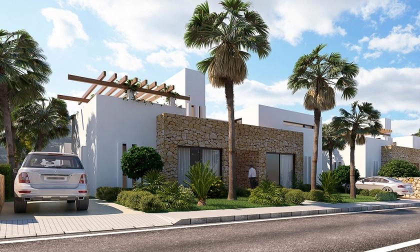 Geschakelde huizen op Font Del Llop golf, Aspe - Alicante in Medvilla Spanje