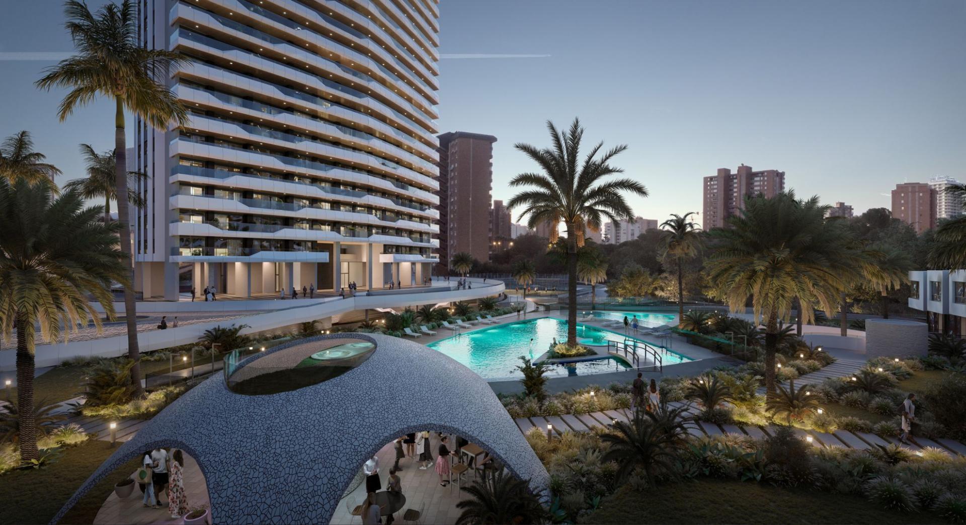 3 Slaapkamer Appartement met terras in Benidorm - Nieuwbouw in Medvilla Spanje