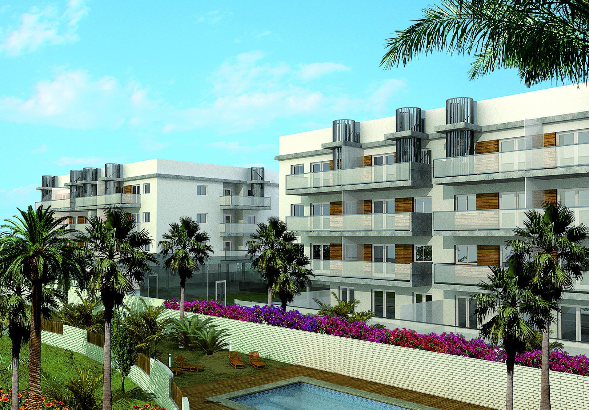 3 Slaapkamer Appartement met solarium in Oliva - Nieuwbouw in Medvilla Spanje