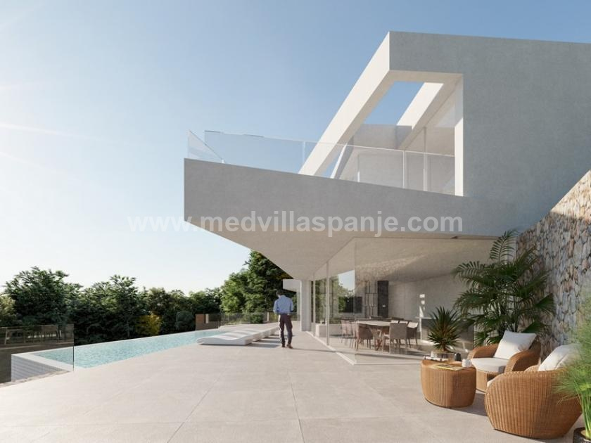 Design Villa met Panoramisch Zeezicht in Altea in Medvilla Spanje