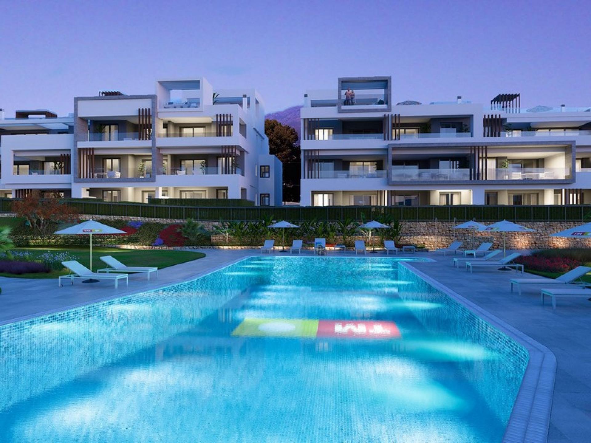 3 Slaapkamer Appartement met tuin in Estepona - Nieuwbouw in Medvilla Spanje