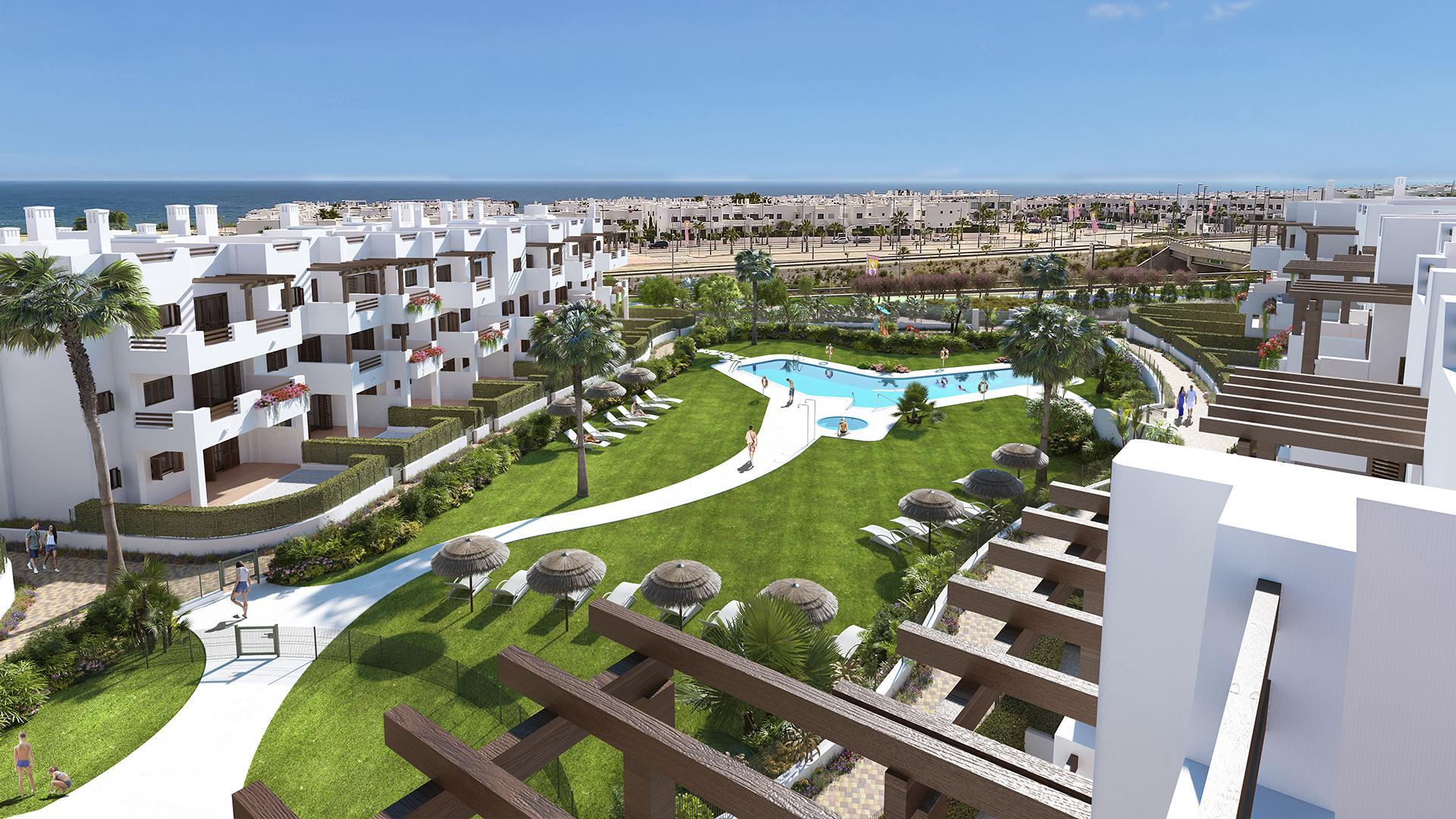Gelijkvloers appartement met tuin in Mar de Pulpi in Medvilla Spanje