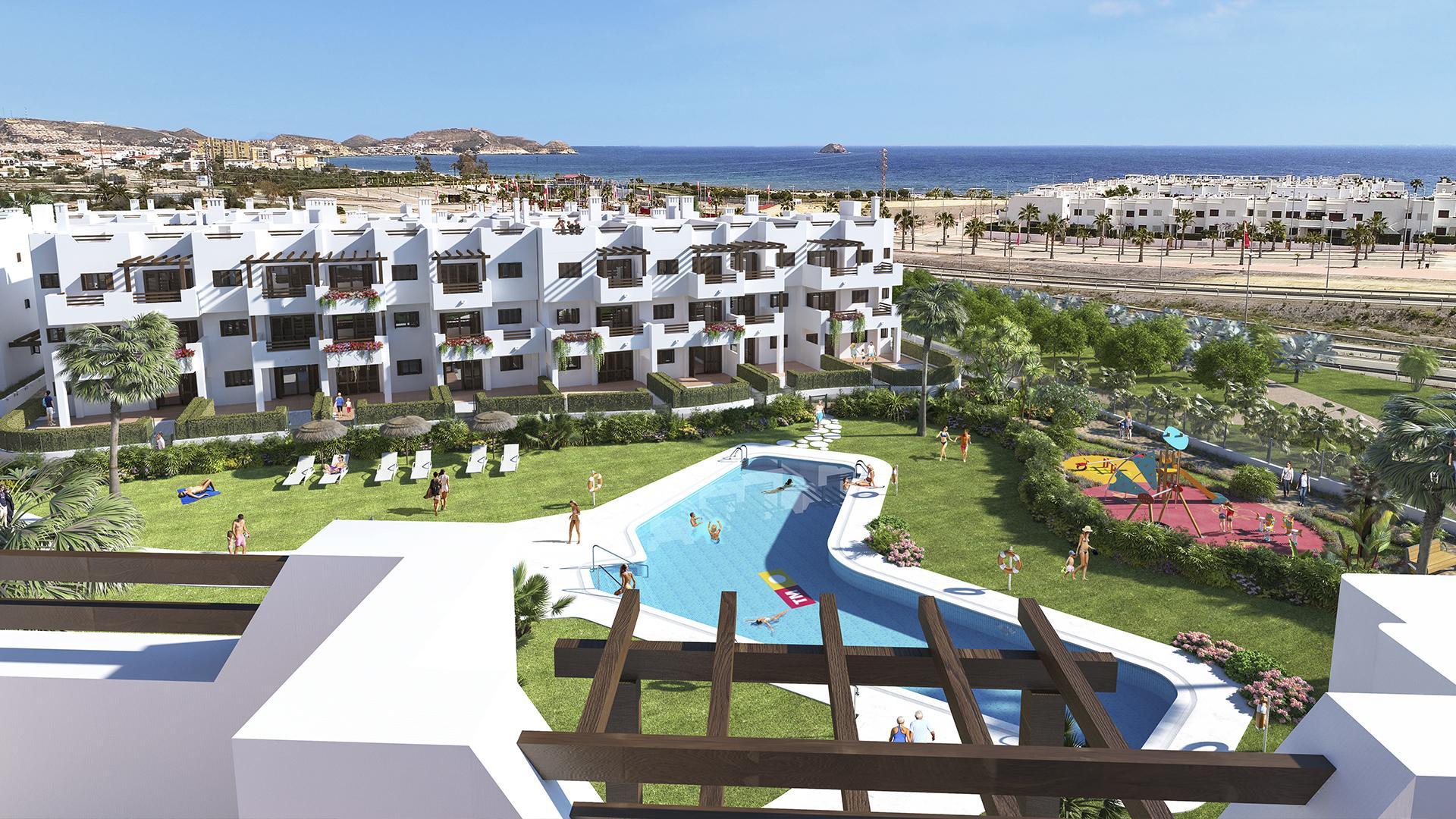 Strandhuizen in Mar de Pulpi aan de kust van Almeria in Medvilla Spanje