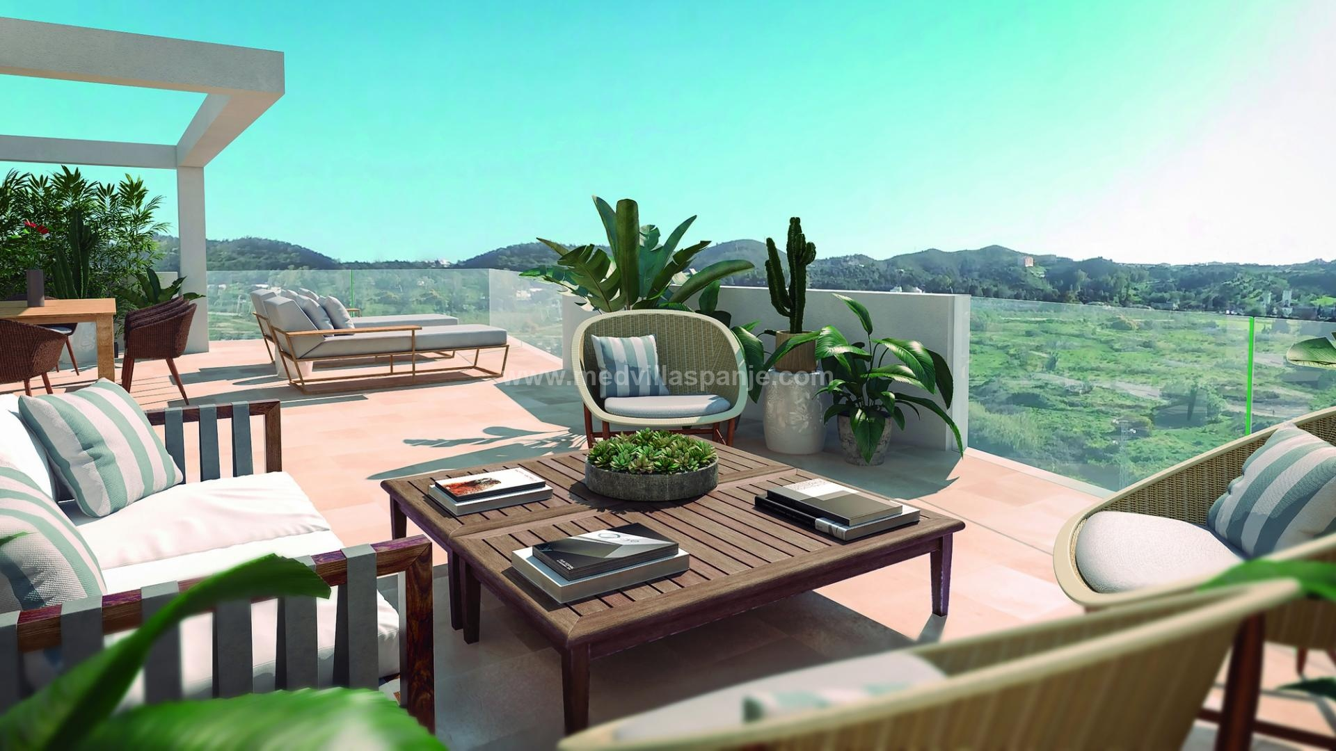 Nieuwbouwappartementen nabij Fuengirola, Málaga, Costa del Sol in Medvilla Spanje