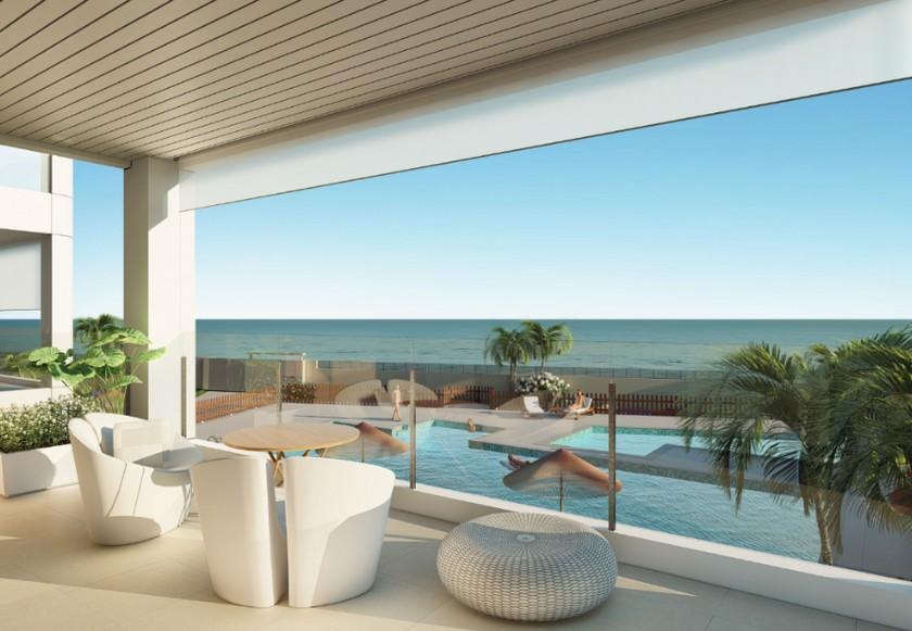 Mil Palmeras appartementen eerste lijn zee, Costa Blanca Zuid in Medvilla Spanje