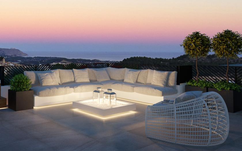 Villa met zeezicht in Polop Hills - Costa Blanca Noord in Medvilla Spanje