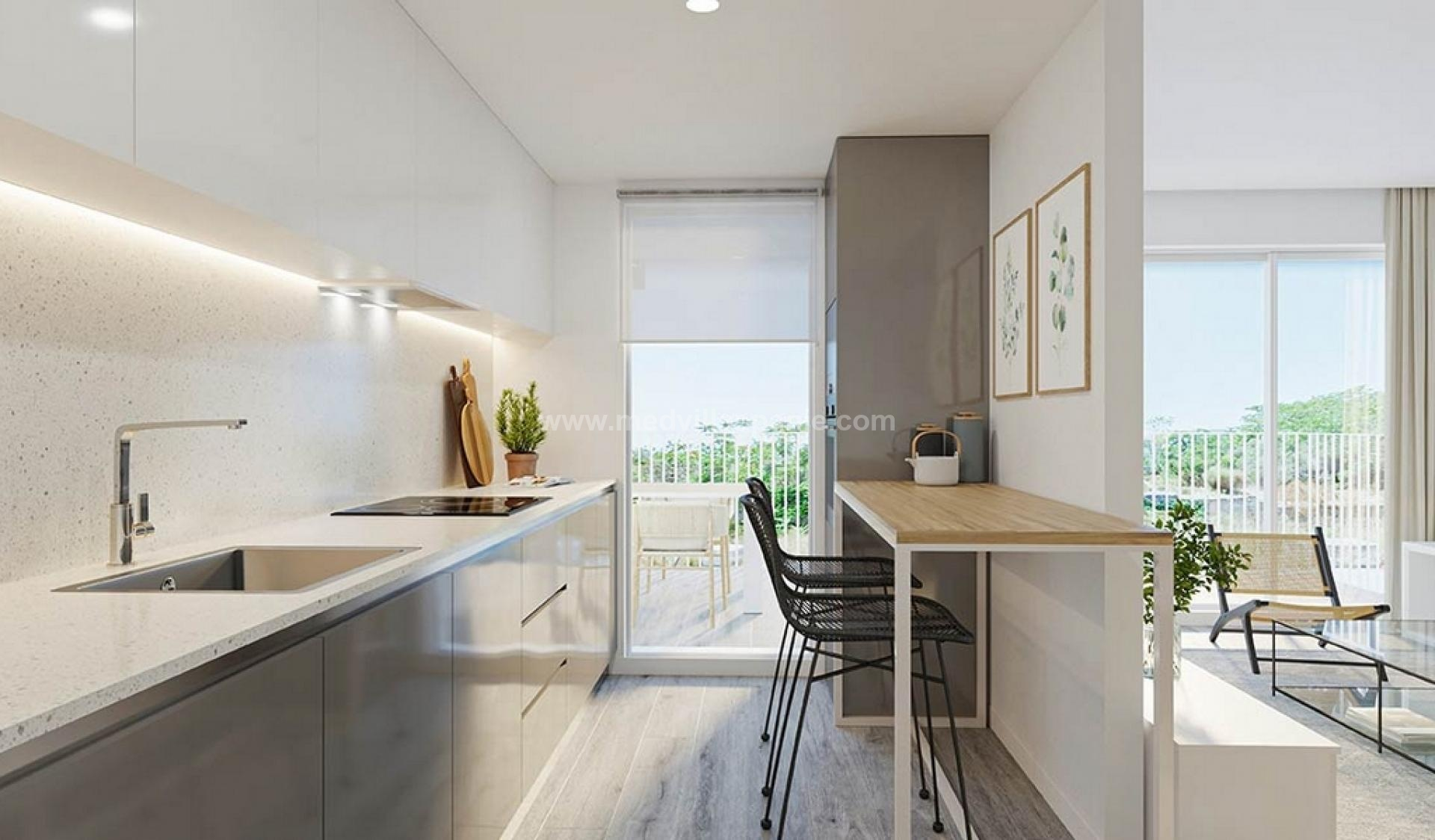 3 Slaapkamer Appartement met terras in Jávea - Nieuwbouw in Medvilla Spanje
