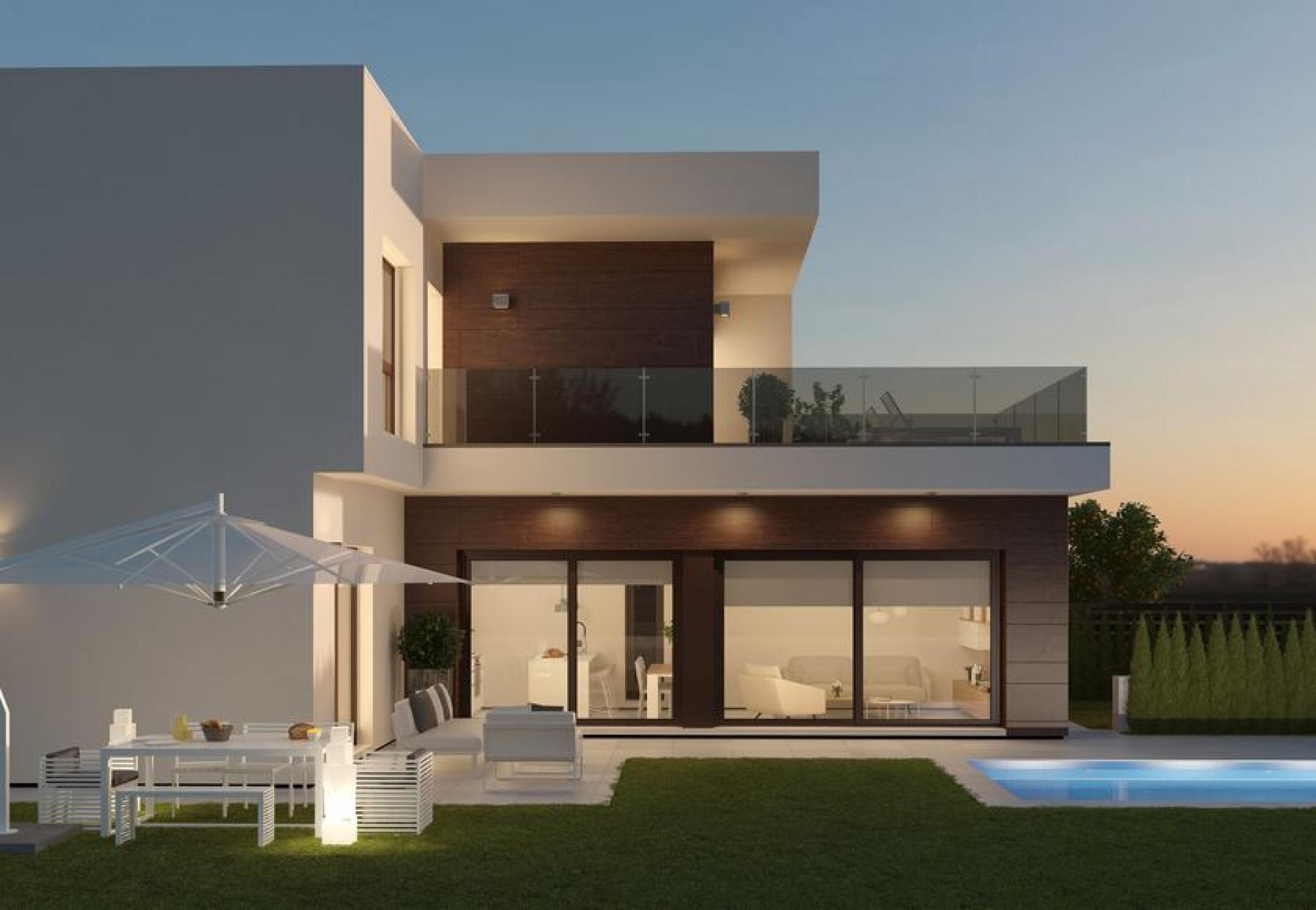 Moderne villa's met golfzicht nabij Murcia in Medvilla Spanje