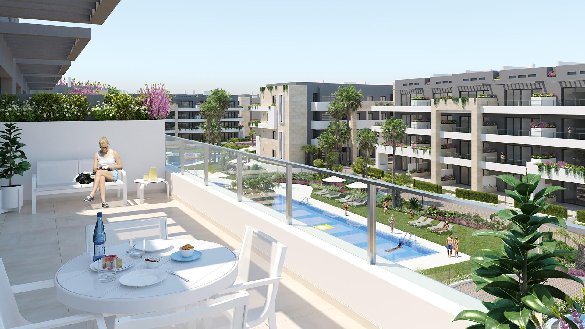 Appartementen op 500m van het strand in Playa Flamenca, Orihuela in Medvilla Spanje