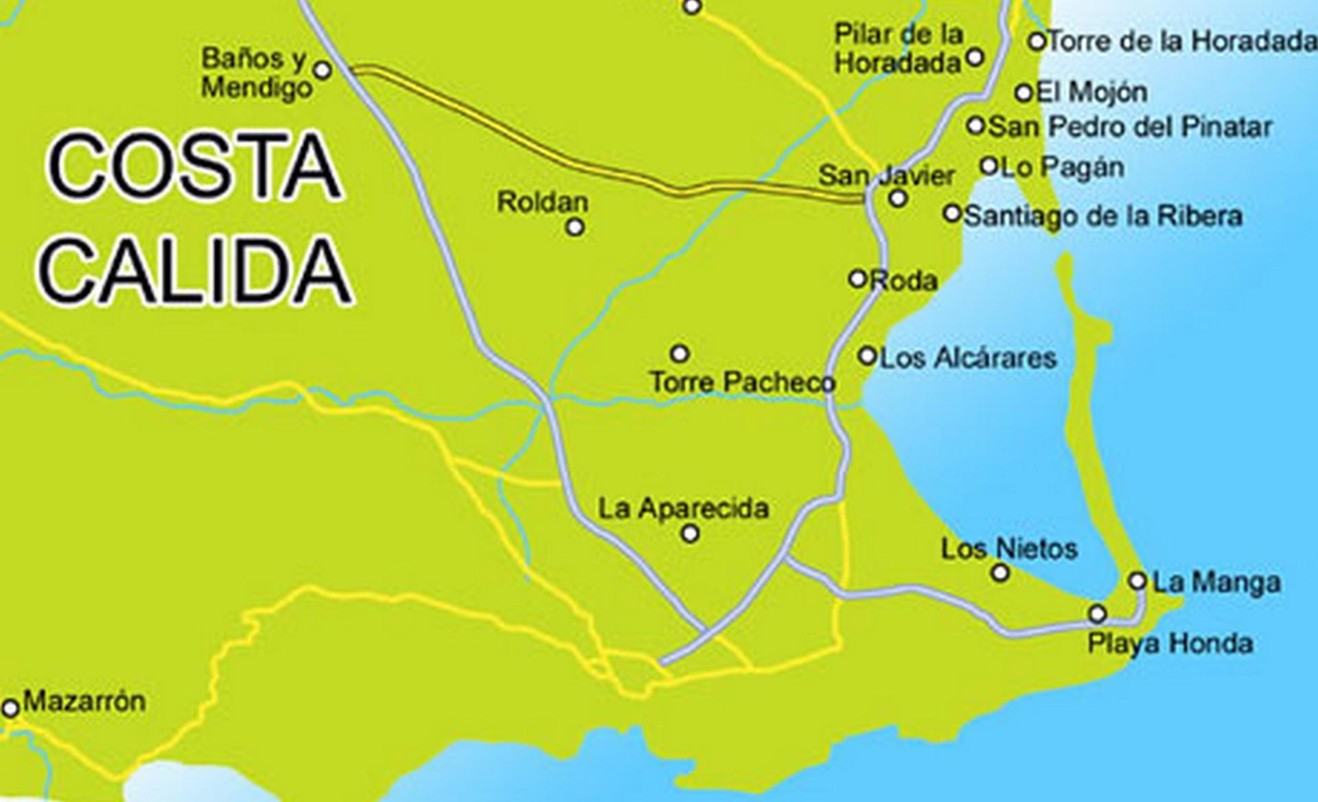 Costa Calida kaart