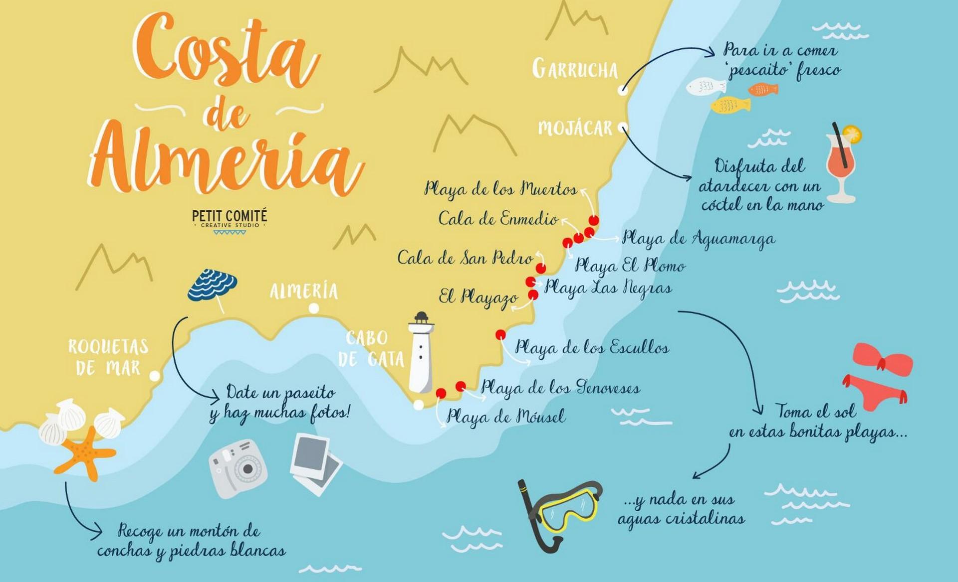 Costa de Almeria kaart