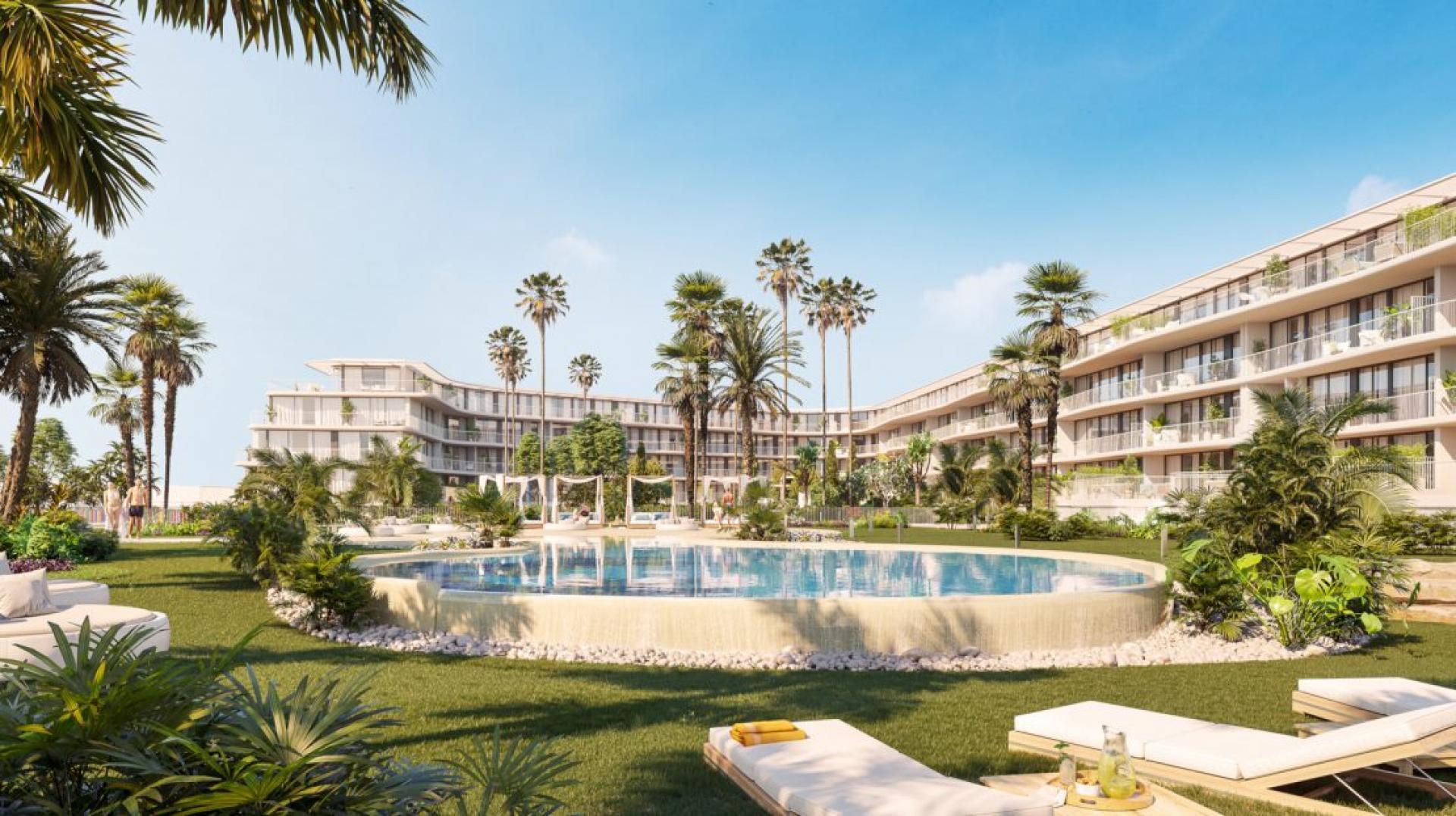 Denia - Appartementen aan het strand van Denia in Medvilla Spanje