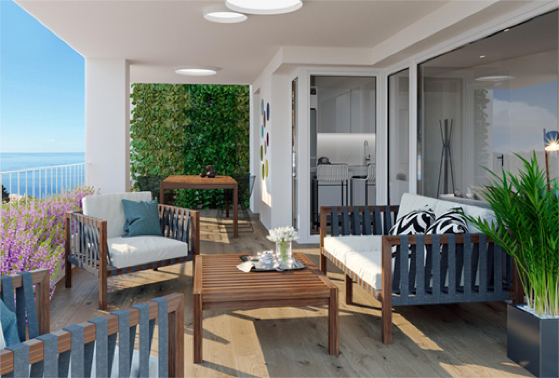 Penthouse met zeezicht in Villajoyosa, Costa Blanca Noord in Medvilla Spanje