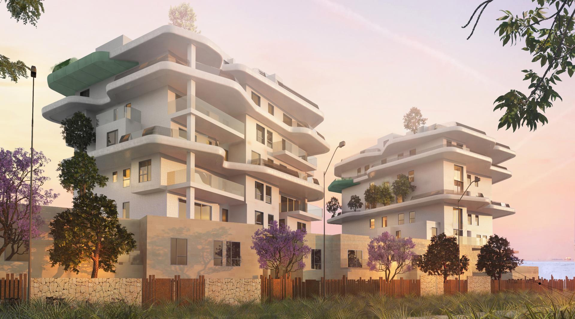 2 slaapkamer appartement aan strand Villajoyosa in Medvilla Spanje