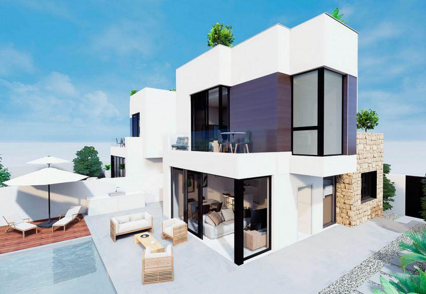 Luxe villa met zeezicht te koop in Torrevieja in Medvilla Spanje