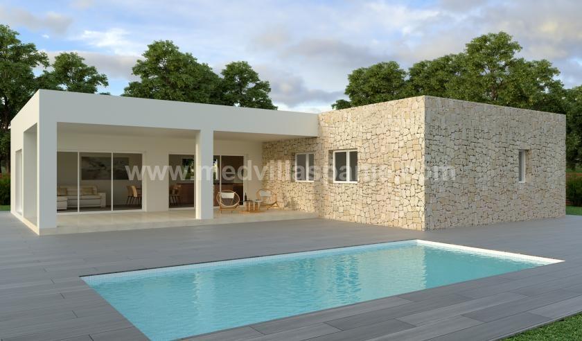 Nieuwe villa's op plan te koop in Hondon de las Nieves, Alicante in Medvilla Spanje