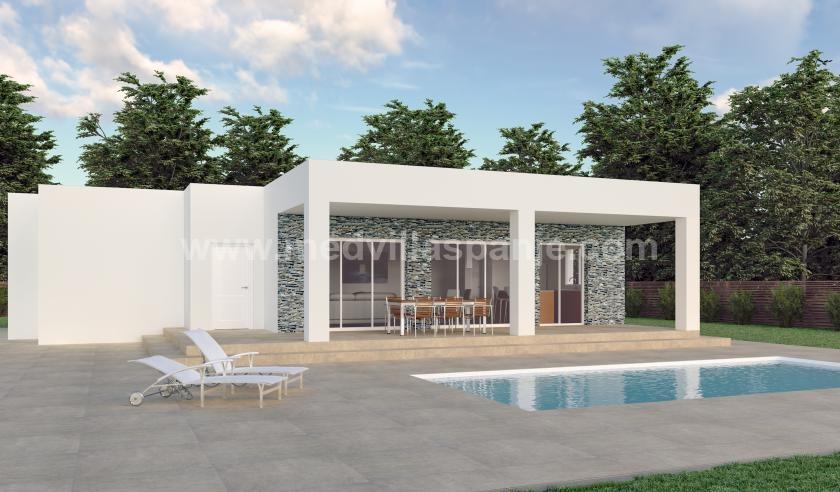 Nieuwe villa's op plan te koop in Hondon de los Frailes, Alicante in Medvilla Spanje